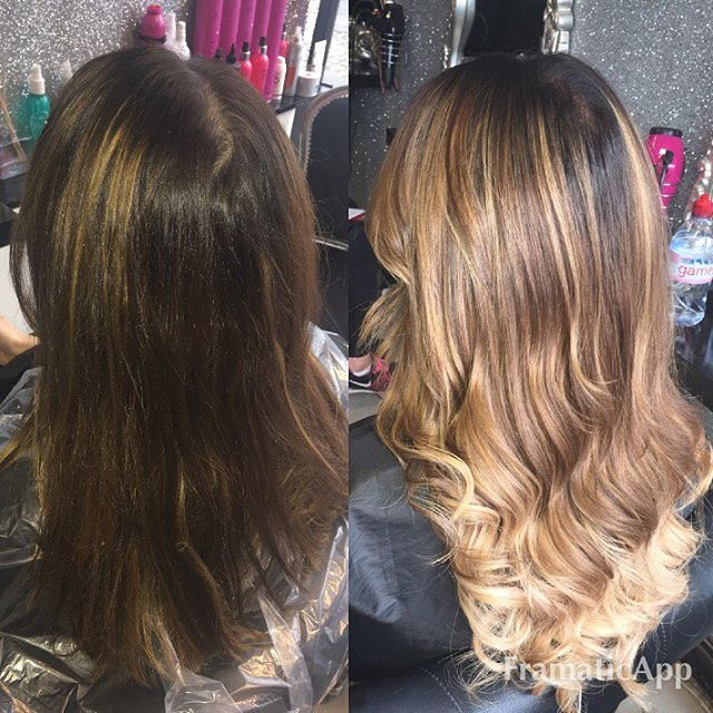 Before and after for luisazissman added some more blonde andhellip